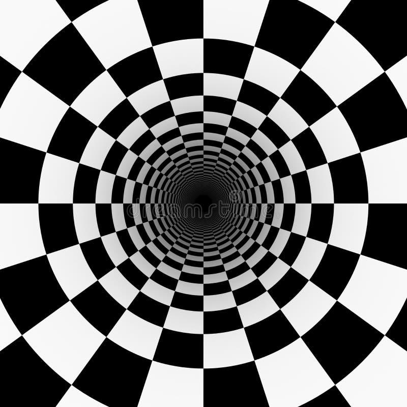 Psychodeliczny tunel ilustracji