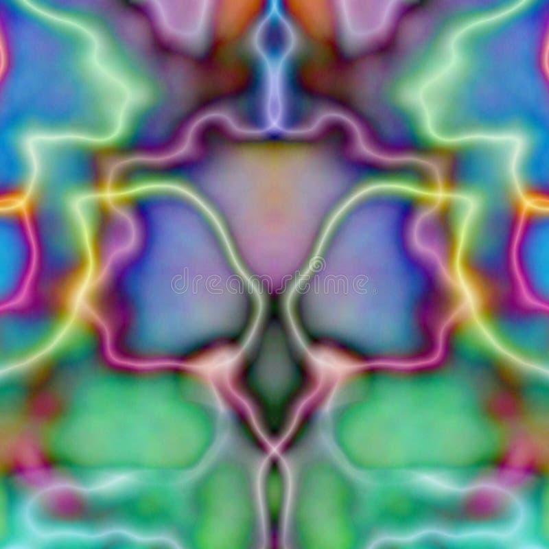 psychodeliczny wale dachówkowy symetryczne royalty ilustracja