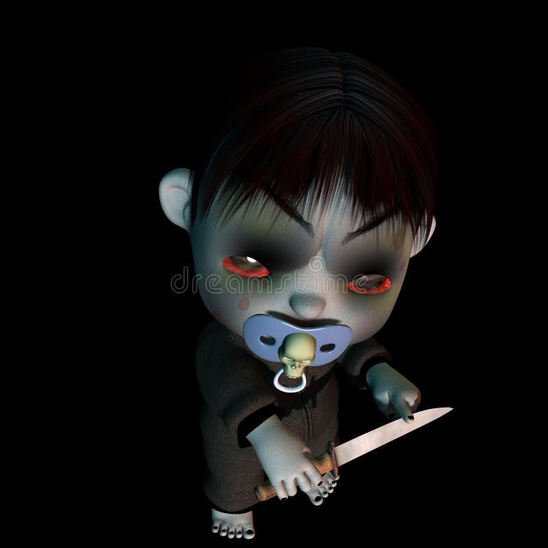 psychol goth dziecka royalty ilustracja