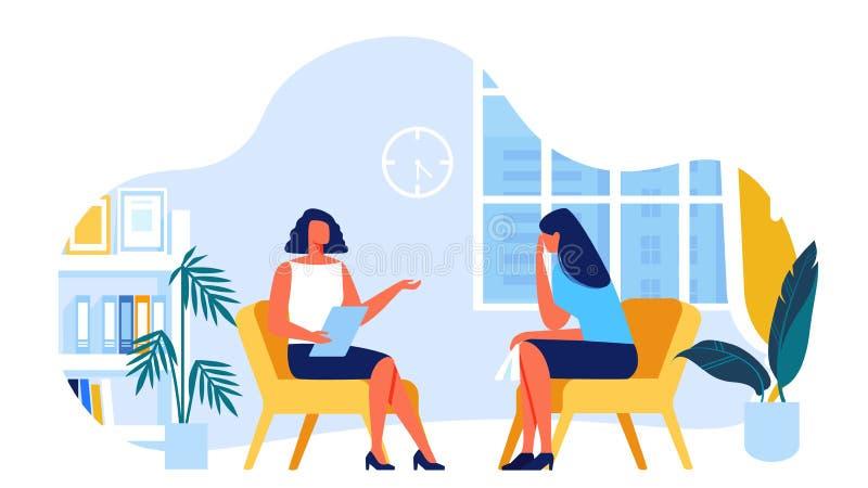 Psycholog Komunikuje z klientem wektor ilustracja wektor