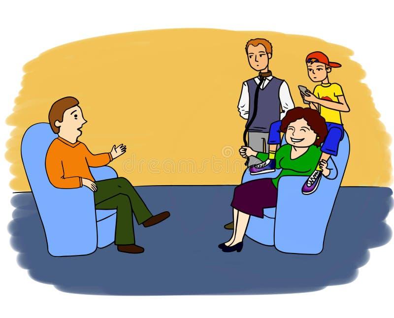 Psycholog przygody 5 ilustracji