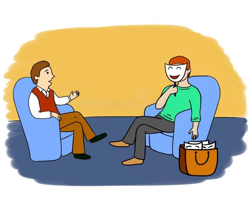 Psycholog przygody 6 royalty ilustracja