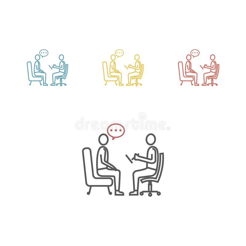 Psychologe, Beratervektorlinie Ikone vektor abbildung
