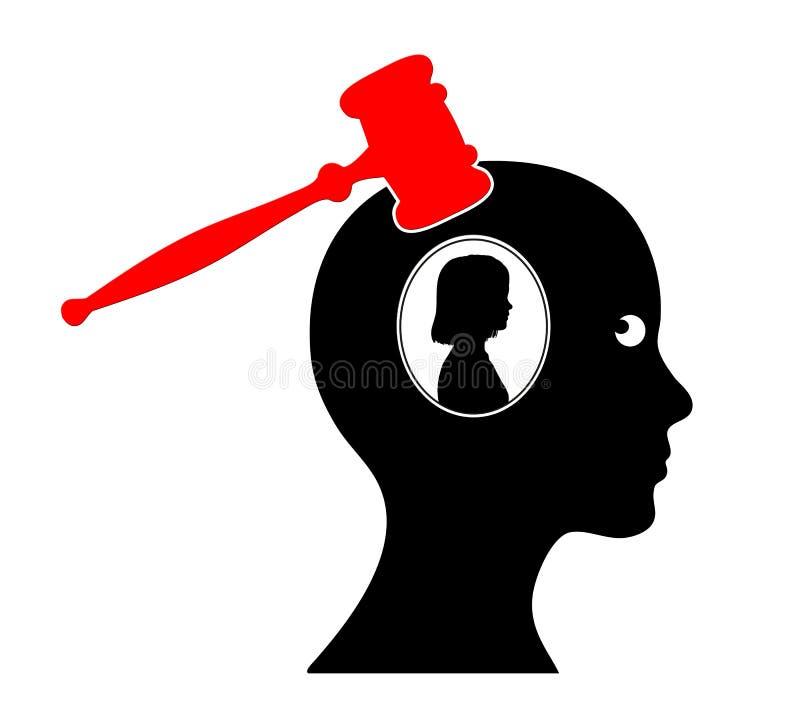 Psychologie de culpabilité illustration stock