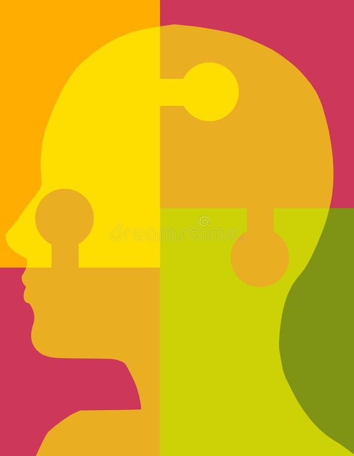 Psychologie-Puzzlespiel-Kopf 2 Stockbilder