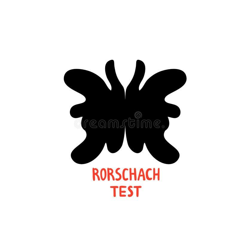 psychologie Rorschach-Test Psychotherapie und psychologische Dienstleistungen, rorschach Testtintenklekse Flacher Vektor der Gekr vektor abbildung