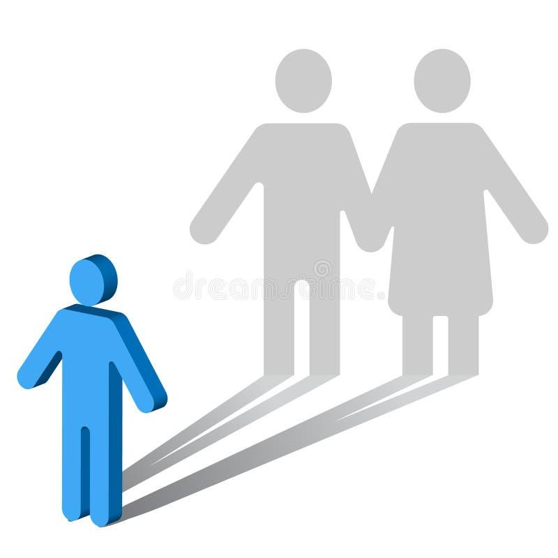 Psychologie-Solitude-Couple-mâle images libres de droits