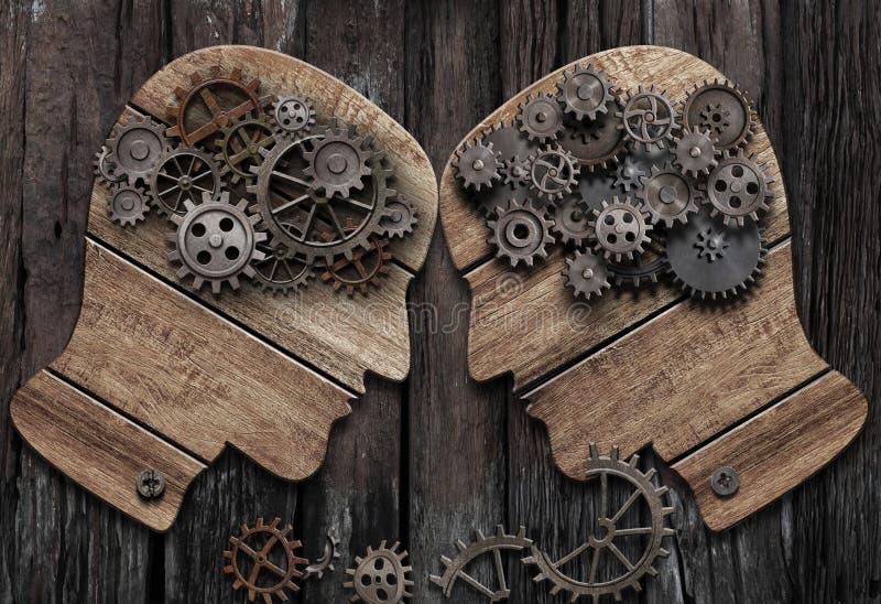 Psychologii bitwy mężczyzna vs mężczyzna konceptualna 3d ilustracja zdjęcie royalty free
