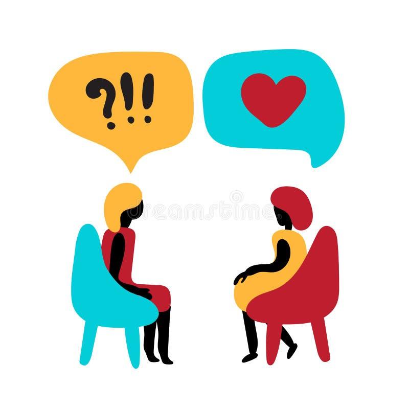 Psychologii rodzina, zdrowie psychiczne lub rodziny rehab poparcia pojęcie, ilustracji