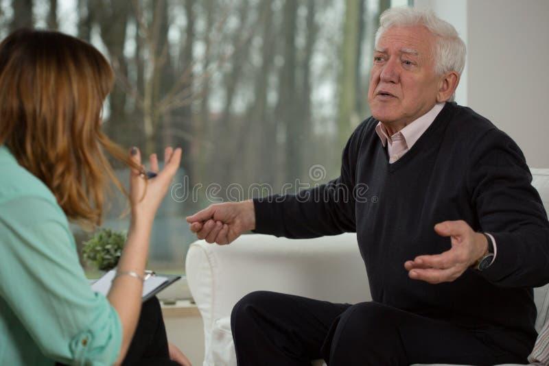 Psychologisches Interview lizenzfreie stockfotos