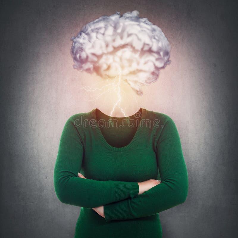 Psychologisches Konzept der Geistesstörung stockbilder