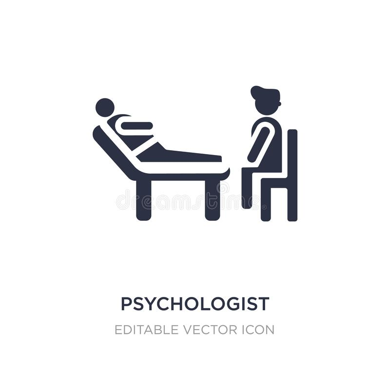 psychologist icon on white background. Simple element illustration from People concept stock illustration
