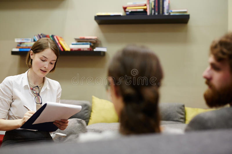 Psychologist at work royalty free stock photography