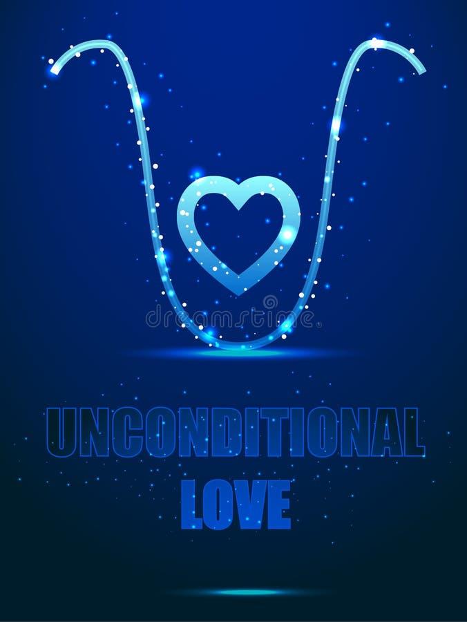 psychology Amor incondicional - um elixir para a alma Estrutura do quadro ilustração royalty free