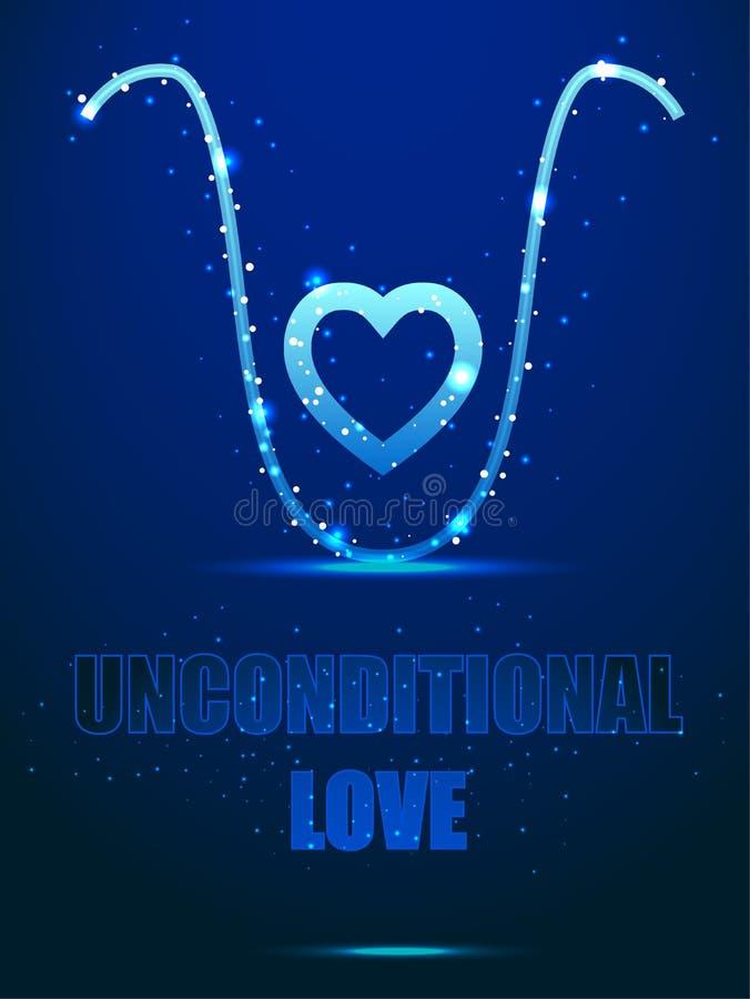psychology Amor incondicional - um elixir para a alma Estrutura do quadro ilustração stock