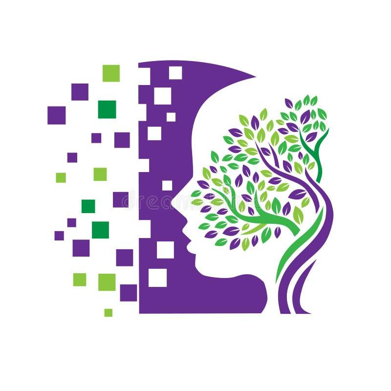 Psychology Concept Design. Psychology and Mental Health logo concept stock illustration