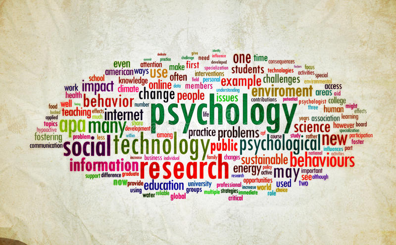 Psychology design vintage stock image