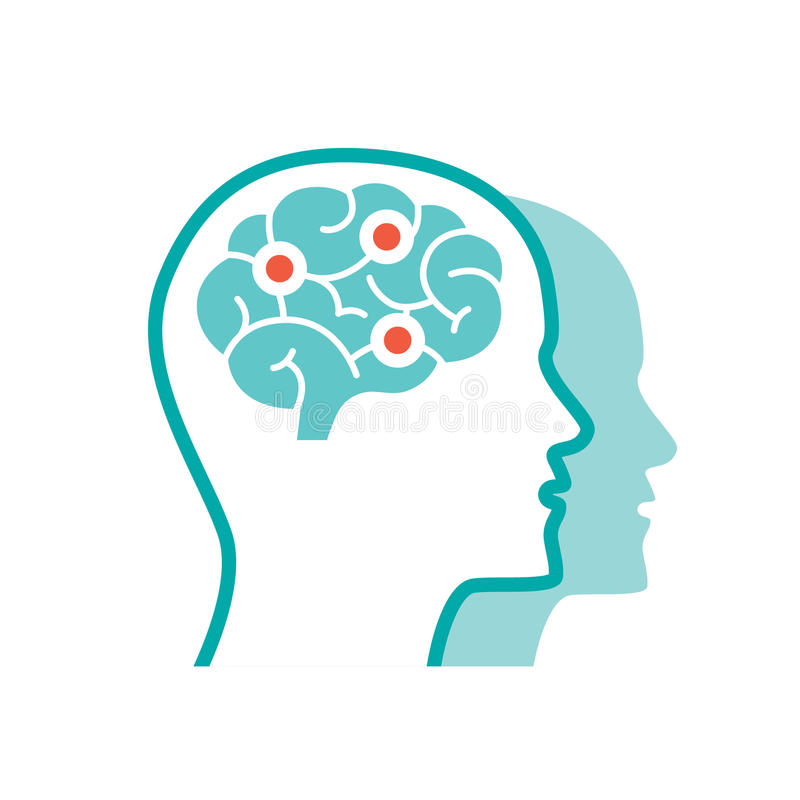 Vector Psychology icon royalty free stock photos