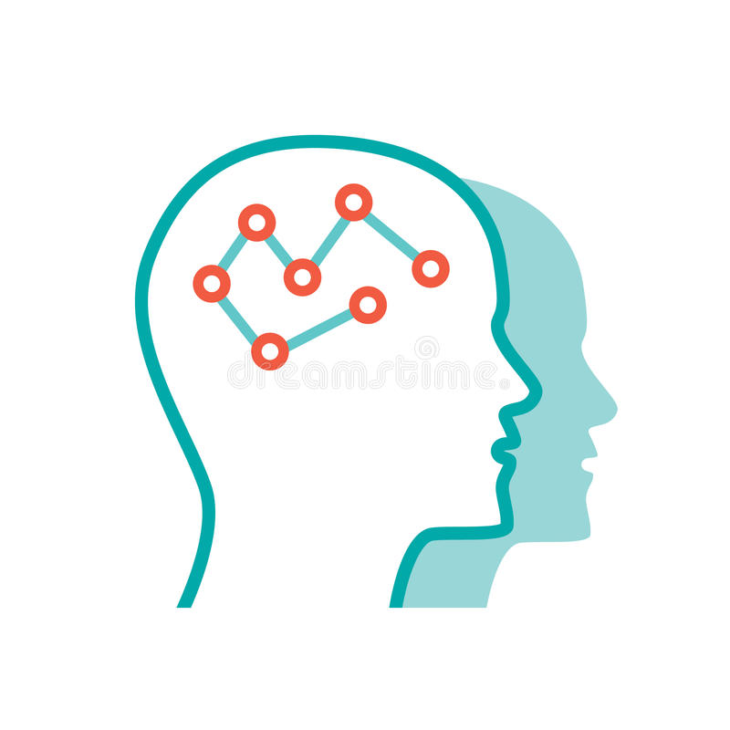 Vector Psychology icon stock image