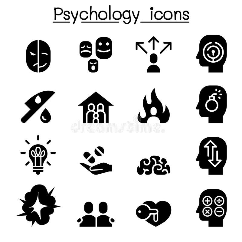 Psychology icon set. Vector illustration graphic design vector illustration