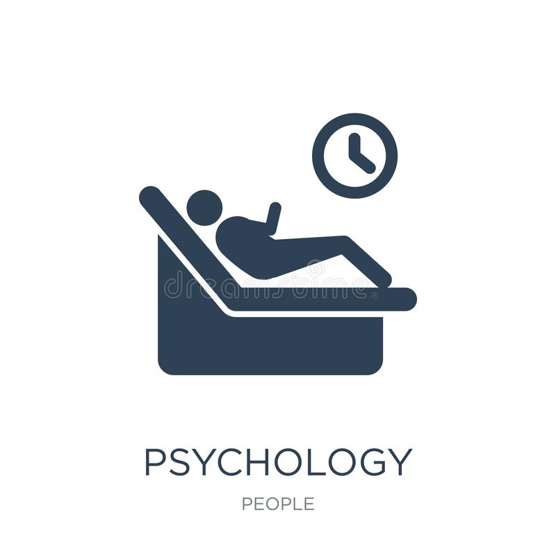 Psychology icon in trendy design style. psychology icon isolated on white background. psychology vector icon simple and modern. Flat symbol for web site, mobile stock illustration