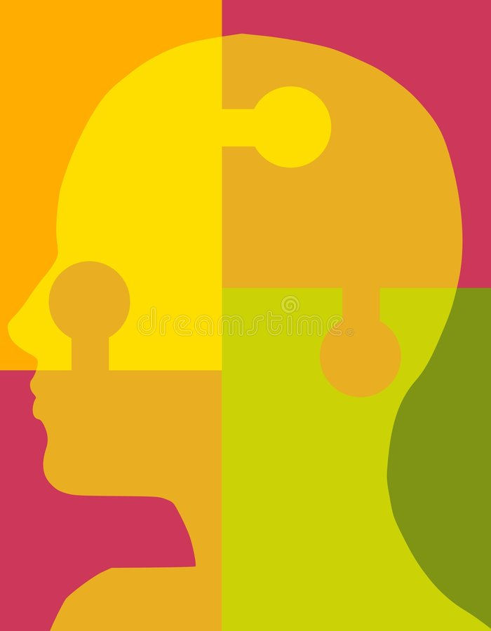 Download Psychology Puzzle Head 2 stock illustration. Illustration of profile - 5576594