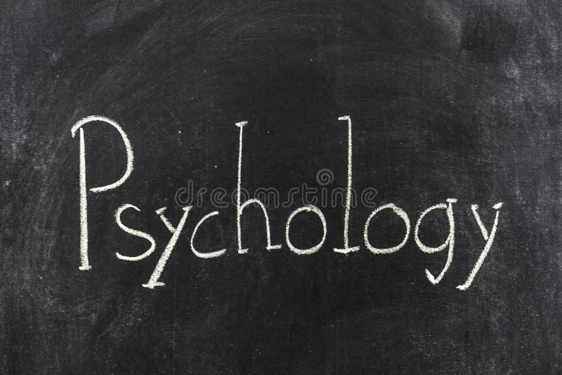 Psychology written on the blackboard royalty free stock image