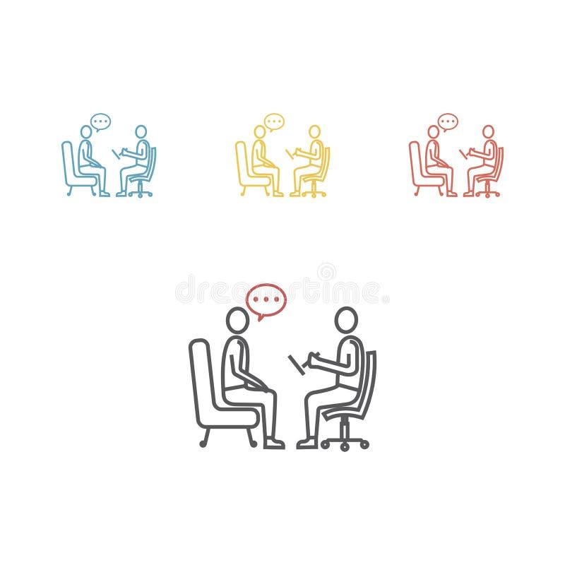 Psycholoog, pictogram van de adviseur het vectorlijn vector illustratie