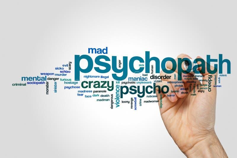 Psychopata słowa chmury pojęcie obraz stock