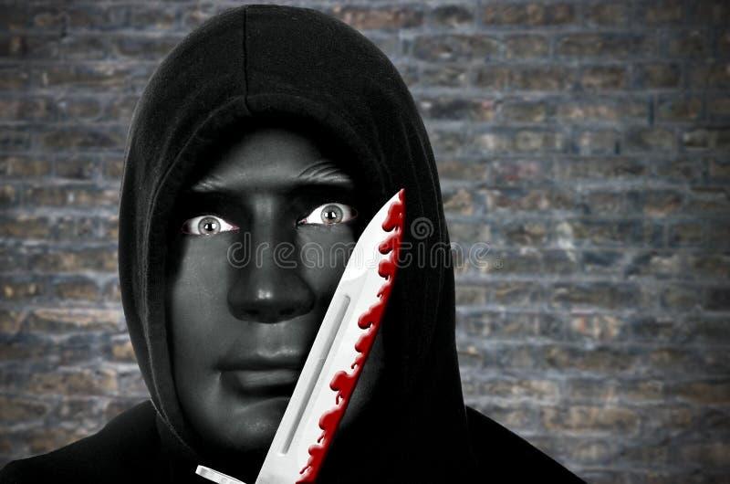 Psychopata z nożem zdjęcia royalty free
