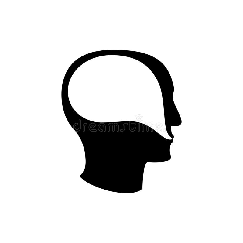 Psychoterapy mental talk inside human head icon stock photography