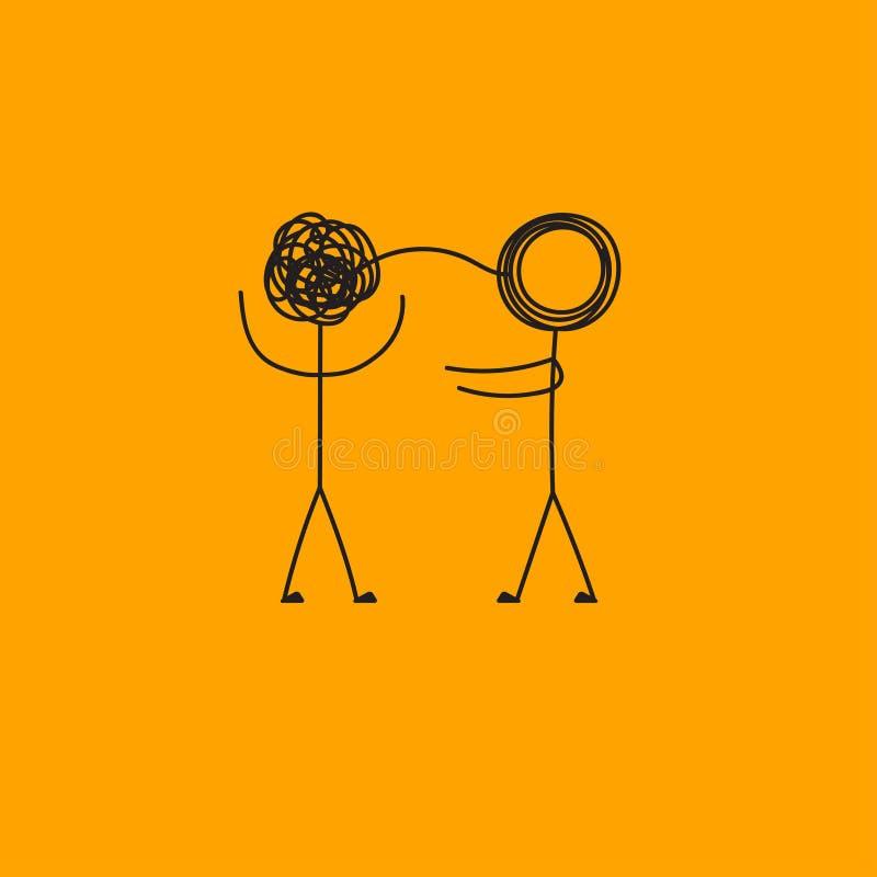 Psychotherapie, Geschäftsanleitung vektor abbildung