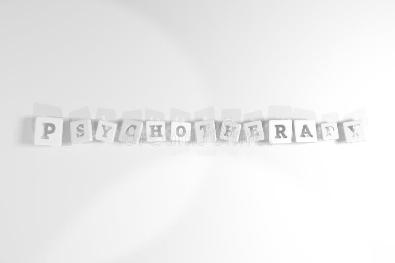 Psychotherapie, Gesundheitsschlüsselwort F?r Webseite, Grafikdesign, Beschaffenheit oder Hintergrund vektor abbildung