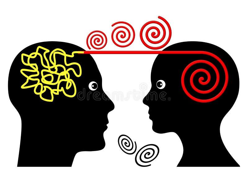 Psychotherapiezitting stock illustratie