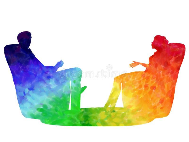 psychotherapy illustrazione vettoriale