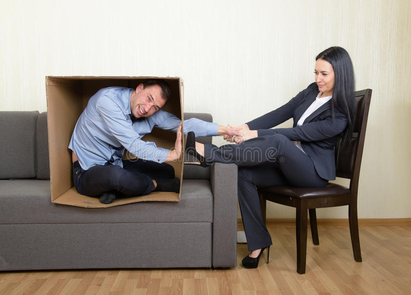 Psychotherapy concept. Psychotherapy - the humorous concept photo stock photography