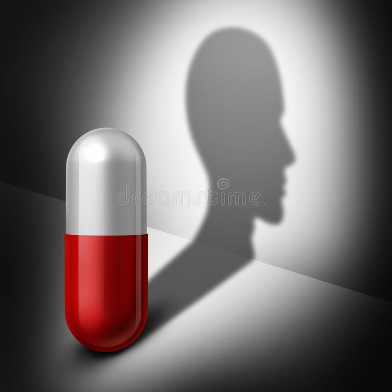 Psychotherapy Drugs Health Care Mind Medicine stock illustration