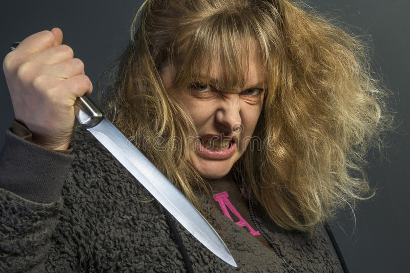 Psychotic Woman royalty free stock photos