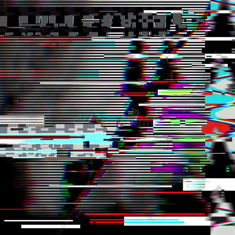 Psykedelisk bakgrund för tekniskt fel Gammalt TVskärmfel Design för abstrakt begrepp för Digital PIXELoväsen Datorfel Televisions royaltyfria foton