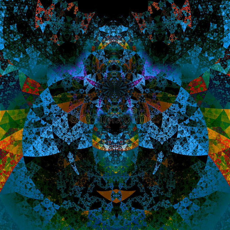 Psykedelisk darthvaderkonst Härlig illustration futuristic bakgrund Modell för abstrakt konst Konstnärliga datorbakgrunder stock illustrationer