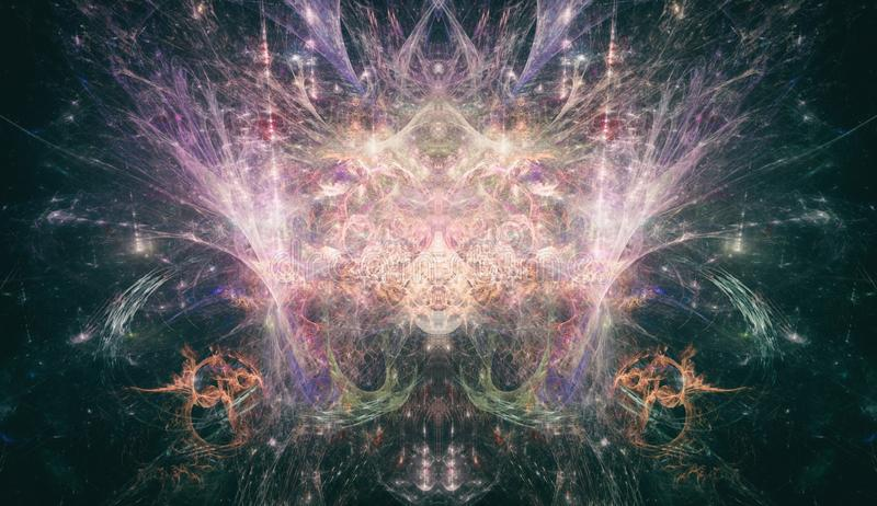 Psykedelisk Fractal Art PsyTrance Concept arkivfoto