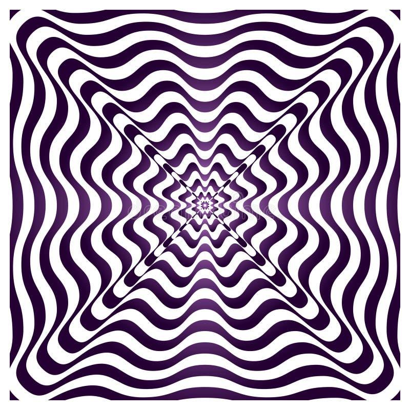 Psykedelisk puls vektor illustrationer