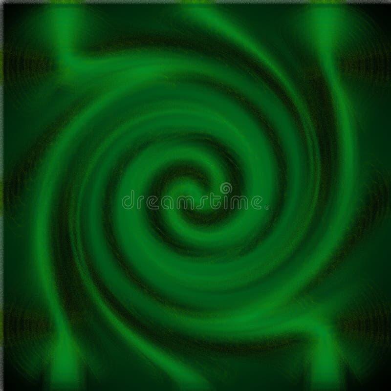 Psykedelisk suddighetsexponeringsglasspiral arkivbilder