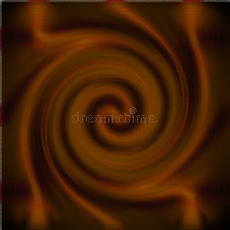 Psykedelisk suddighetsexponeringsglasspiral royaltyfri foto