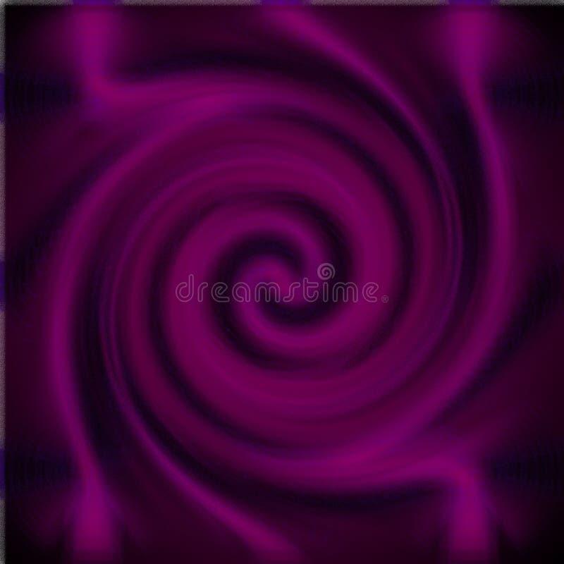Psykedelisk suddighetsexponeringsglasspiral fotografering för bildbyråer