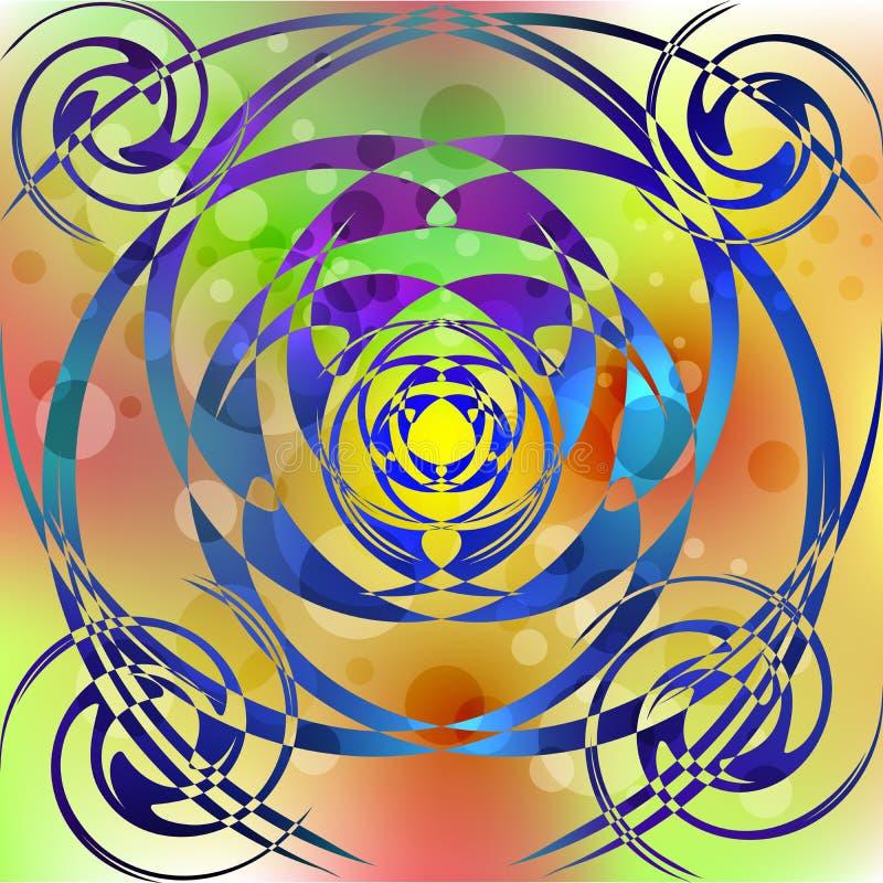 Psykedeliska mångfärgade bubblor royaltyfri bild