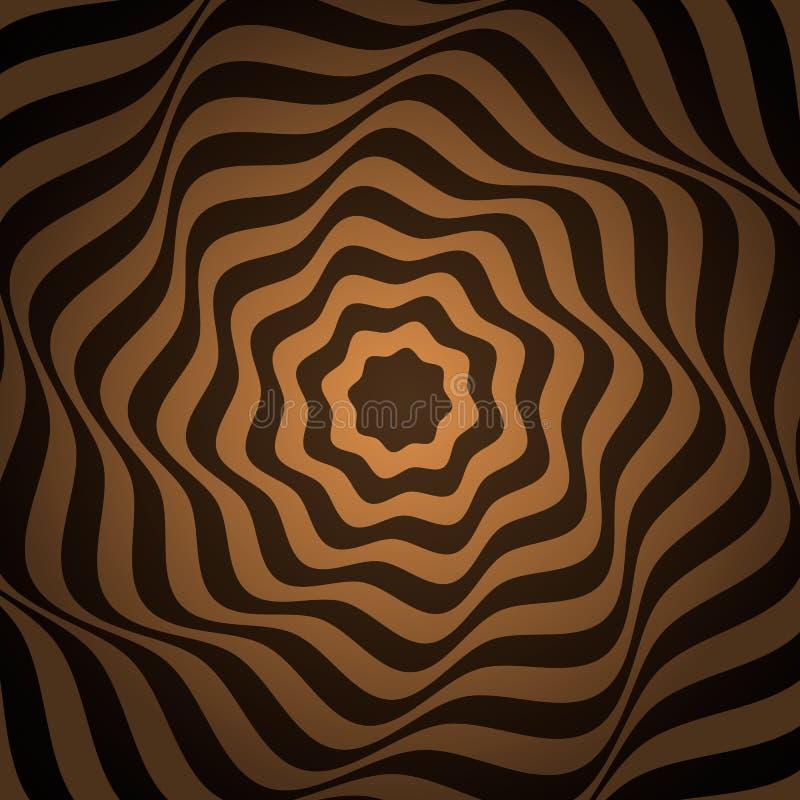 Psykedeliskt abstrakt baner med ett diagram modern bakgrundsdesign Plan isolerad vektorillustration royaltyfri illustrationer