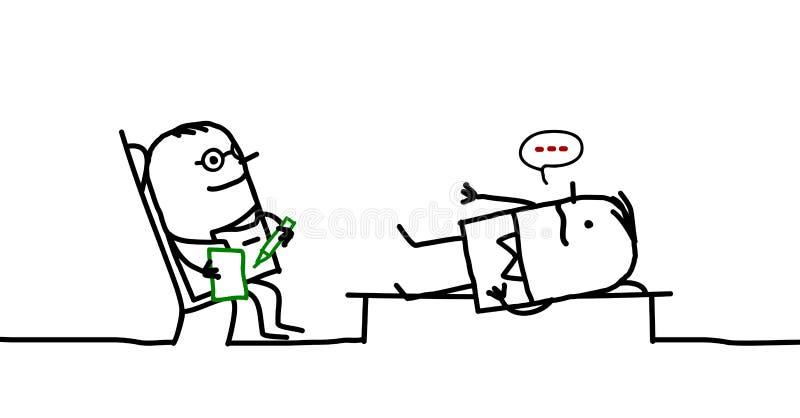 psykiater royaltyfri illustrationer