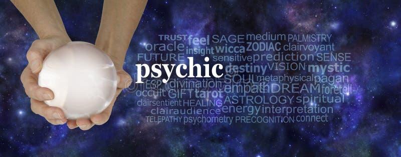 Psykiskt moln för ord för Powers Fortune Teller ` s arkivfoton