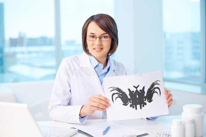 Psykolog på arbetsplatsen arkivbilder